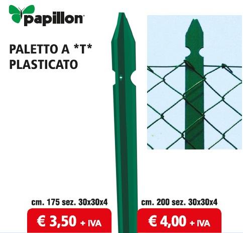 PALETTO a T in Acciaio PLASTICATO VERDE PAPILLON  - Promozione - Uni Edil
