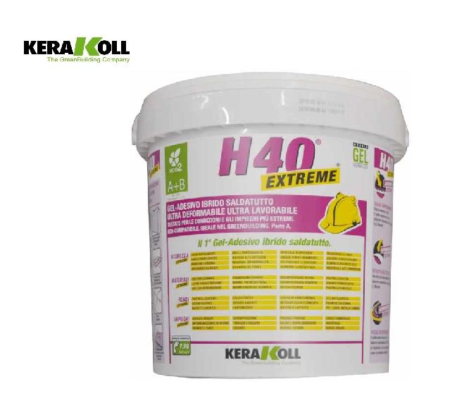 Kerakoll h40 extreme bianco malta bicomponente a b 10 kg for Marchetti rivarolo
